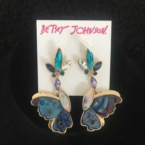 """BETSEY JOHNSON """"Two Sides to a Butterfly"""" Earrings"""